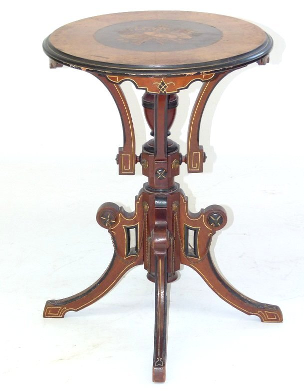 NY VICTORIAN RENAISSANCE SIDE TABLE. C. 1870/80