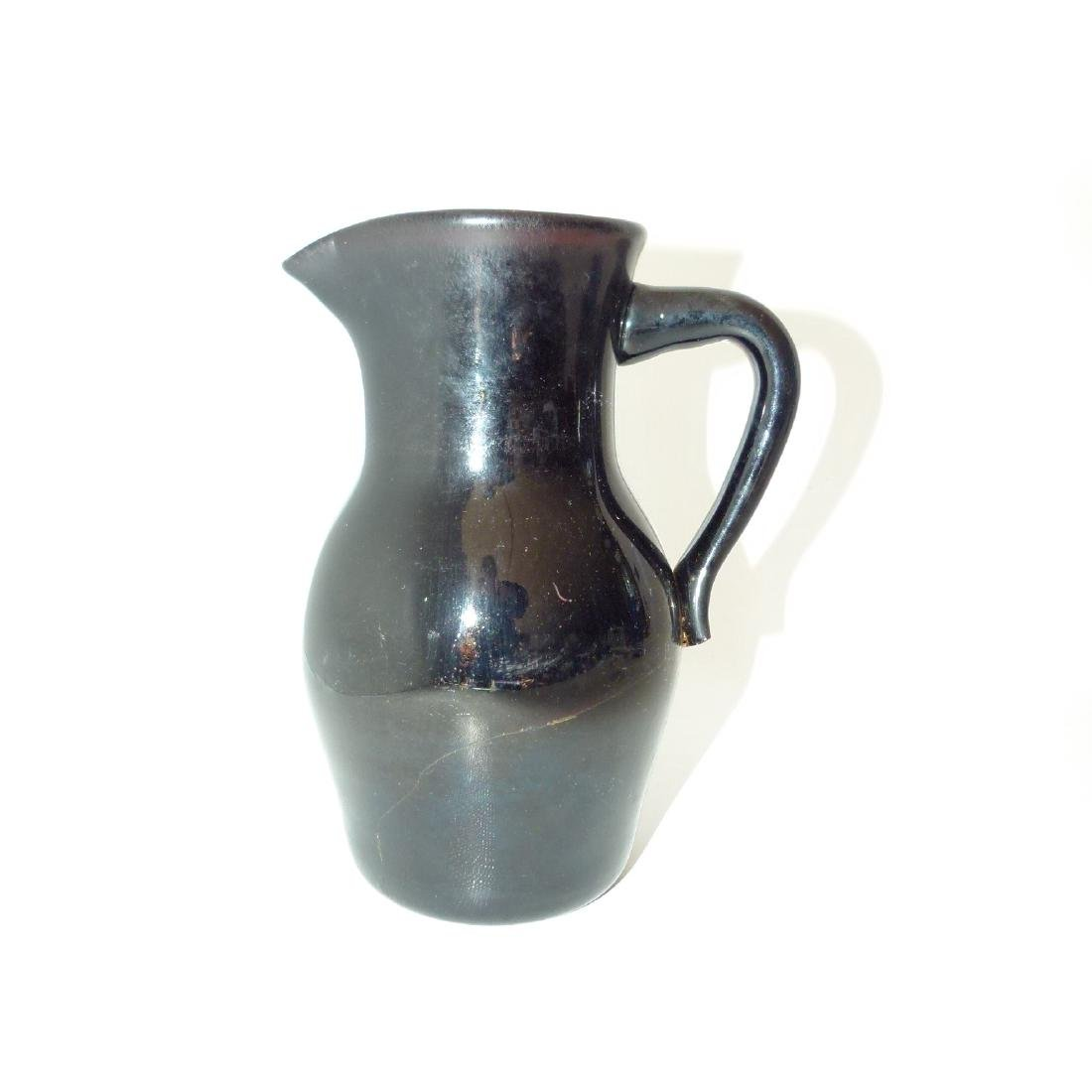 LOT (3) EARLY NEW JERSEY FREE BLOWN PITCHERS, 19TH C. - 6