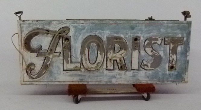 BOWSER FLORIST, MIDDLETOWN NY, NEON FLORIST SIGN - 2