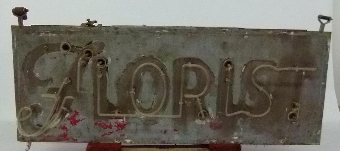 BOWSER FLORIST, MIDDLETOWN NY, NEON FLORIST SIGN - 7