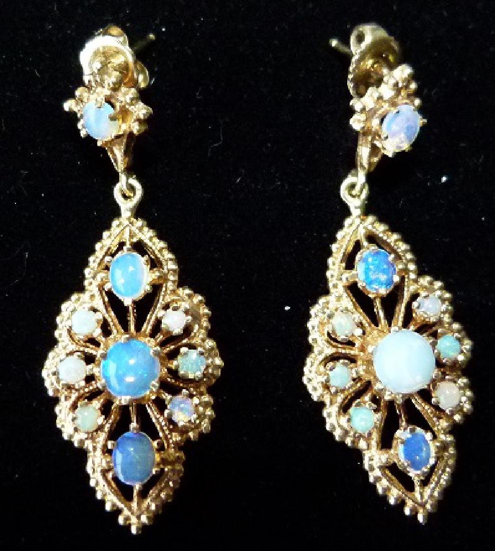 VICTORIAN 14KT. YELLOW GOLD DANGLE EARRINGS 19/20TH C.