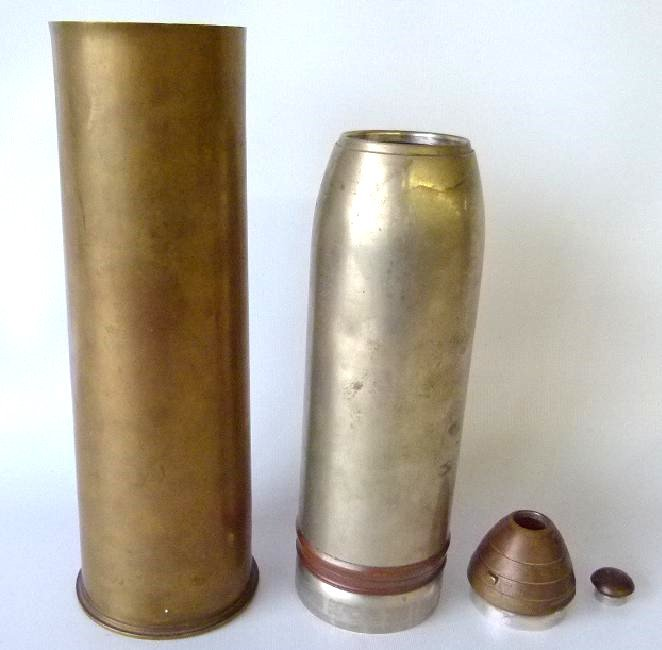 GORHAM WORLD WAR I EIGHTEEN POUND TRENCH ART COCKTAIL - 4