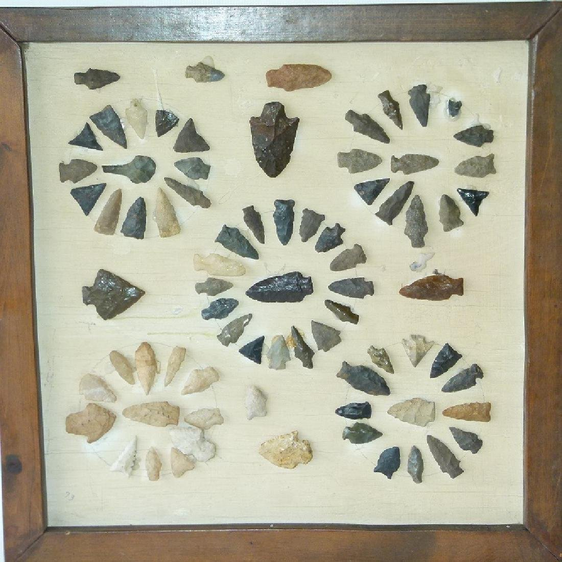 LOT (72) FRAMED AMERICAN INDIAN ARTIFACTS (ORANGE CO.,