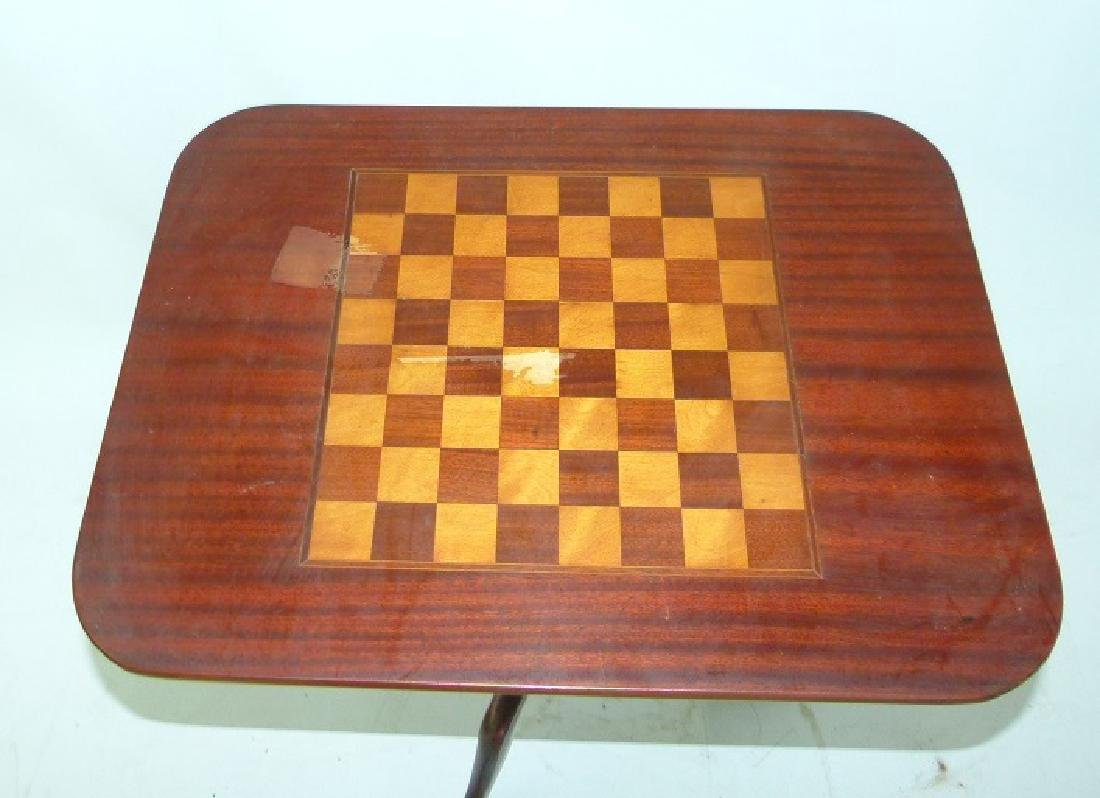 FEDERAL STYLE MAHOGANY TILT TOP GAME TABLE, 20TH C. - 3