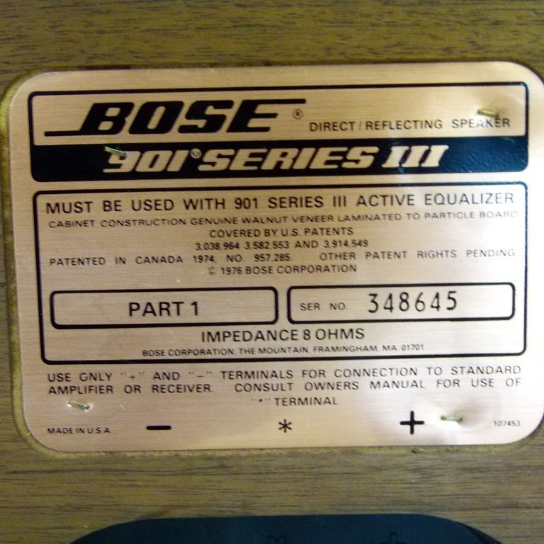 BOSE 901 SPEAKERS - 7