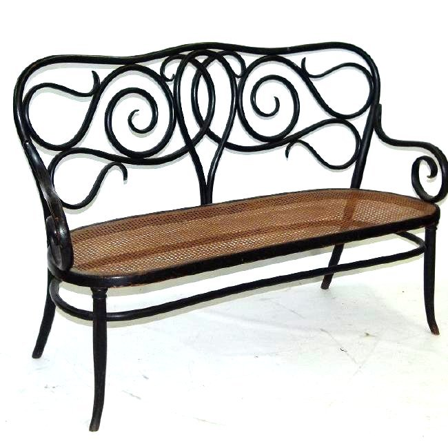 LARGE THONET TRIPLE BENCH, C. 1910/20