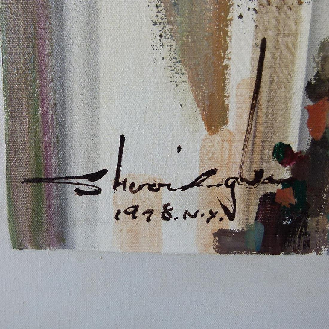 O/C ART MODERN ABSTRACT SIGNED ILLEDG., 1978 NY - 3