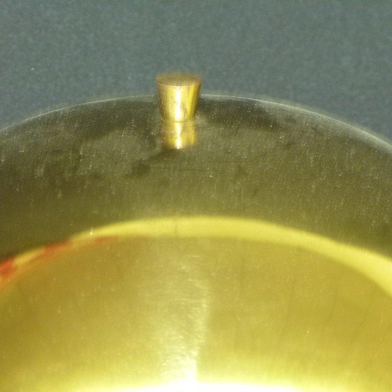MID CENTURY MODERN BRASS MUSHROOM TABLE LAMP, C. 1960 - 3