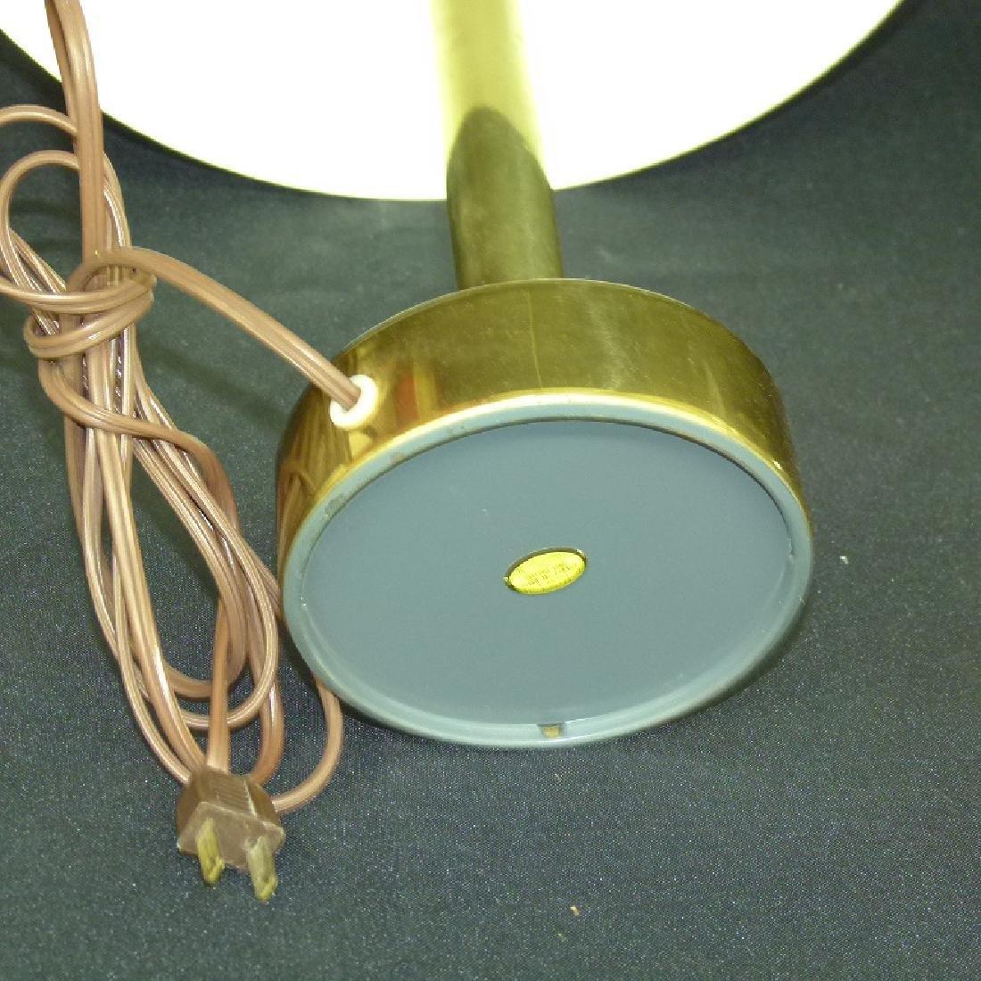 MID CENTURY MODERN BRASS MUSHROOM TABLE LAMP, C. 1960 - 5
