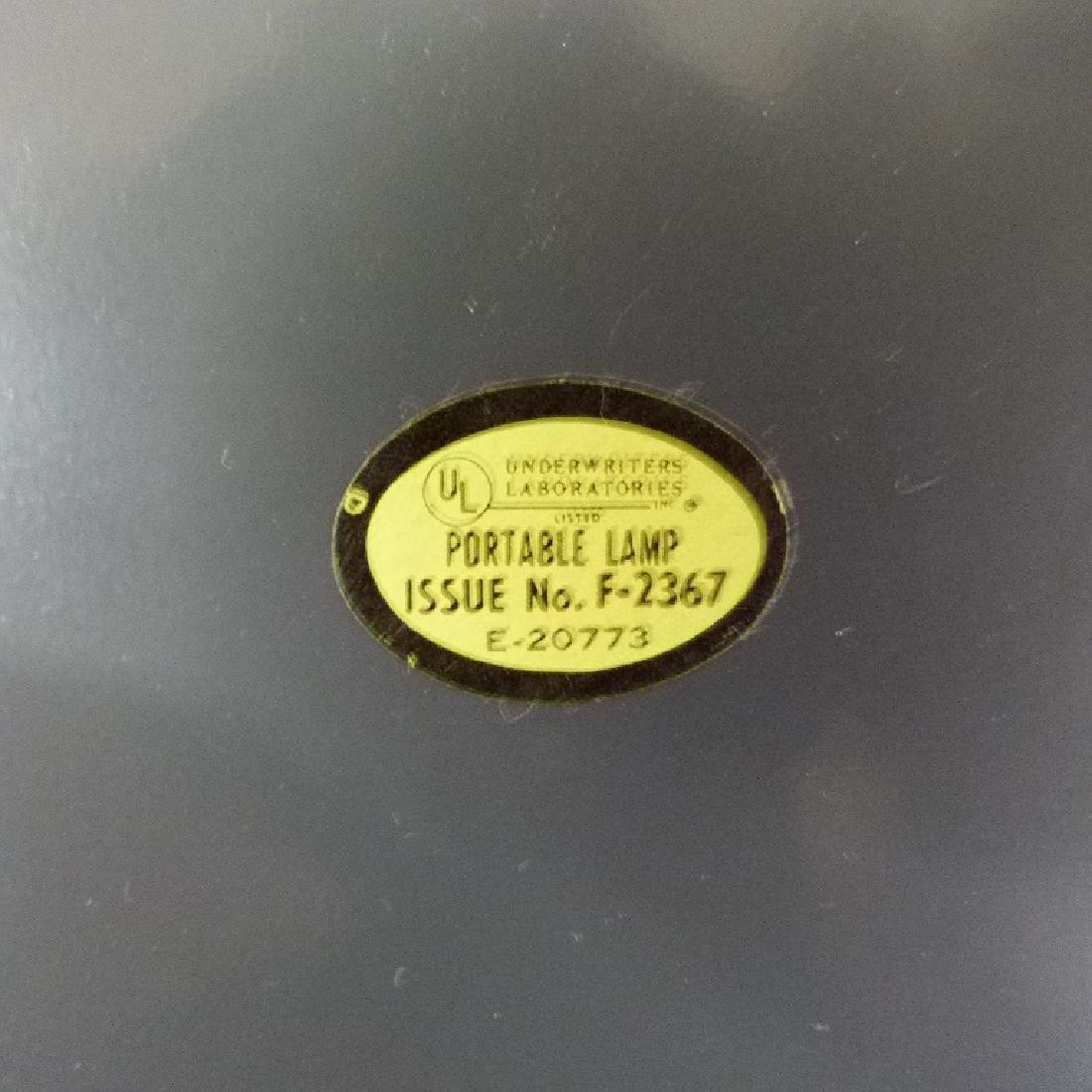 MID CENTURY MODERN BRASS MUSHROOM TABLE LAMP, C. 1960 - 6