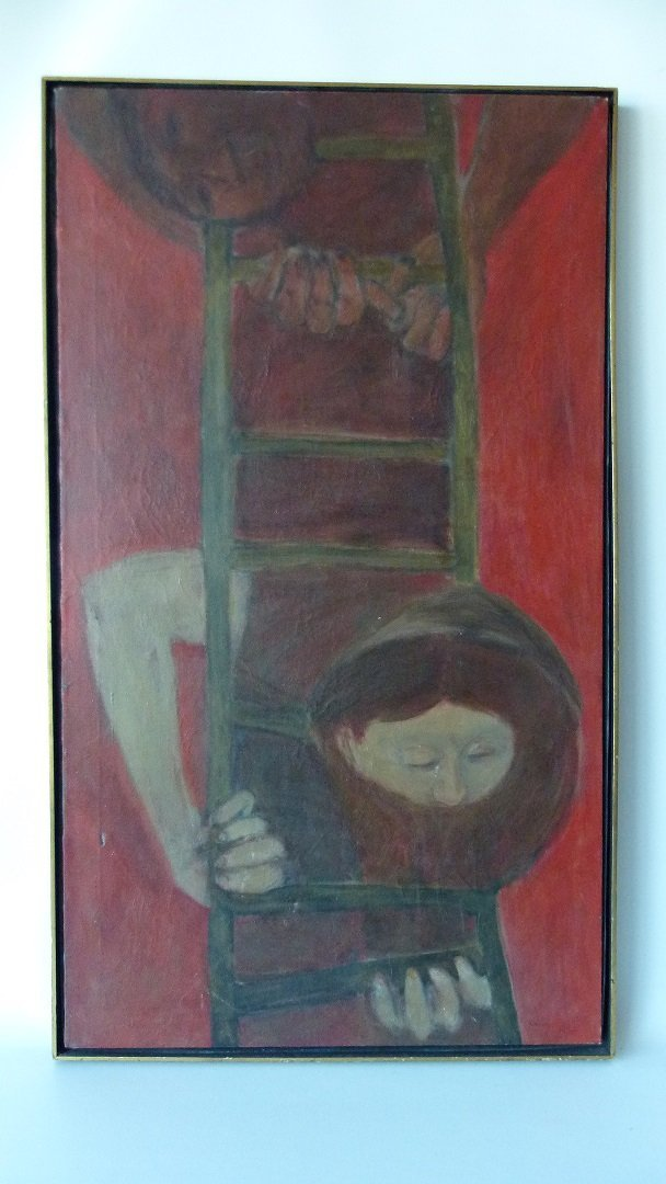 """O/C """"THE FIRE ESCAPE"""" SIGNED KENNEDY (PAUL NEW YORK,"""