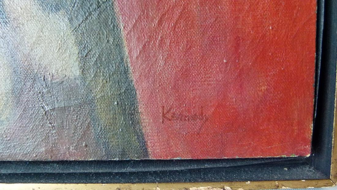 """O/C """"THE FIRE ESCAPE"""" SIGNED KENNEDY (PAUL NEW YORK, - 2"""