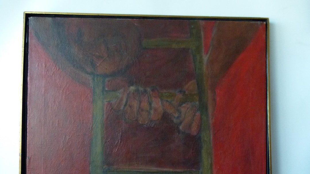 """O/C """"THE FIRE ESCAPE"""" SIGNED KENNEDY (PAUL NEW YORK, - 3"""