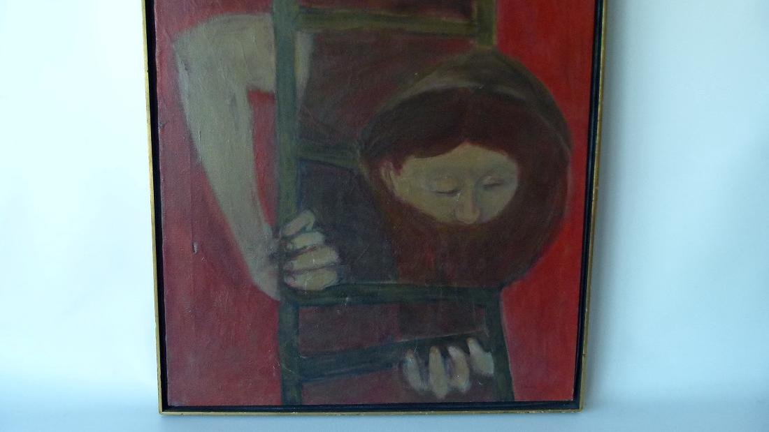 """O/C """"THE FIRE ESCAPE"""" SIGNED KENNEDY (PAUL NEW YORK, - 4"""
