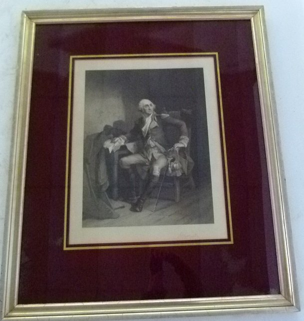 "STEEL ENGRAVING ""GEORGE WASHINGTON"" PAINTED BY C."