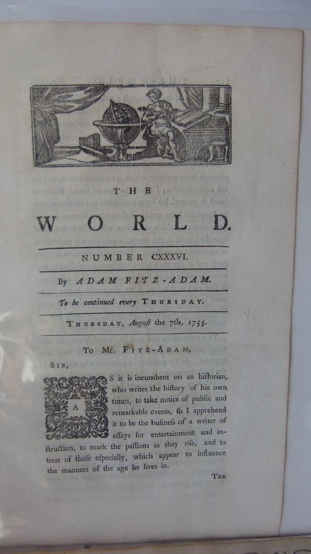 LOT (6) ASSORTED EARLY NEWSPAPERS/PAMPHLETS 1709-1782 - 7