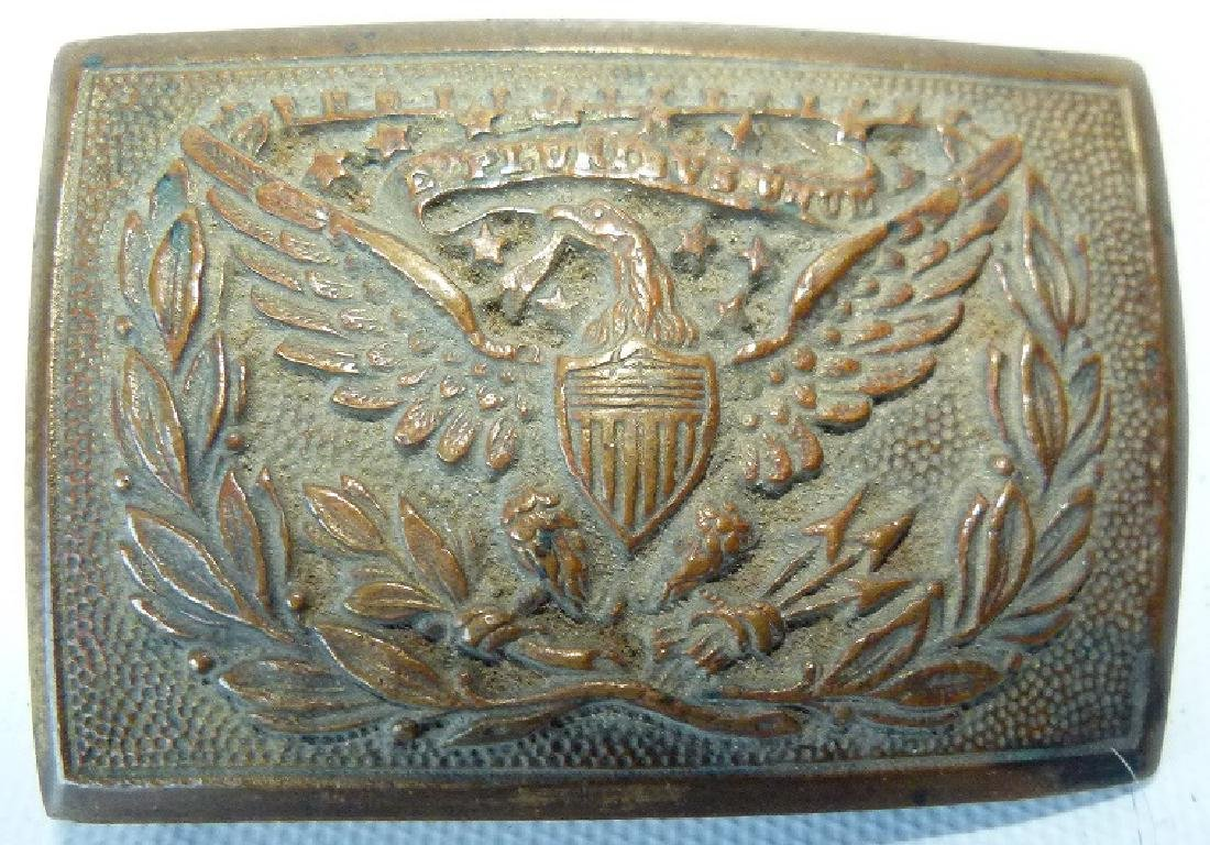 CIVIL WAR BRASS OFFICERS BELT BUCKLE (VANDUZER) C. 1860