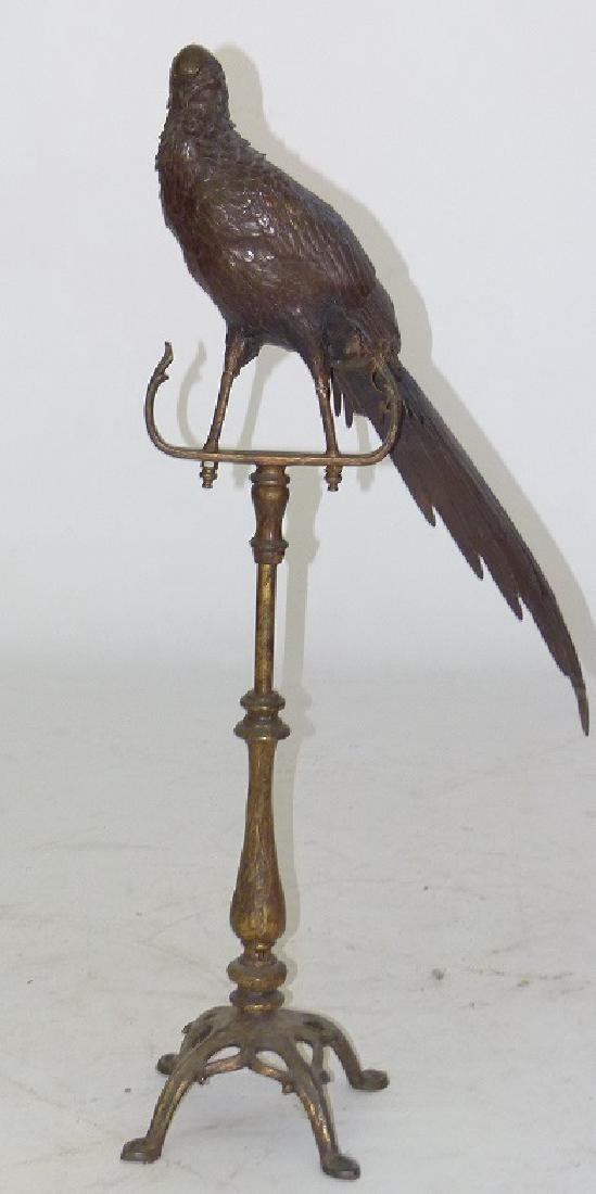 "BRONZE ""BIRD OF PARADISE"" 19TH C. (REPAIRED) H. 36 1/2"""
