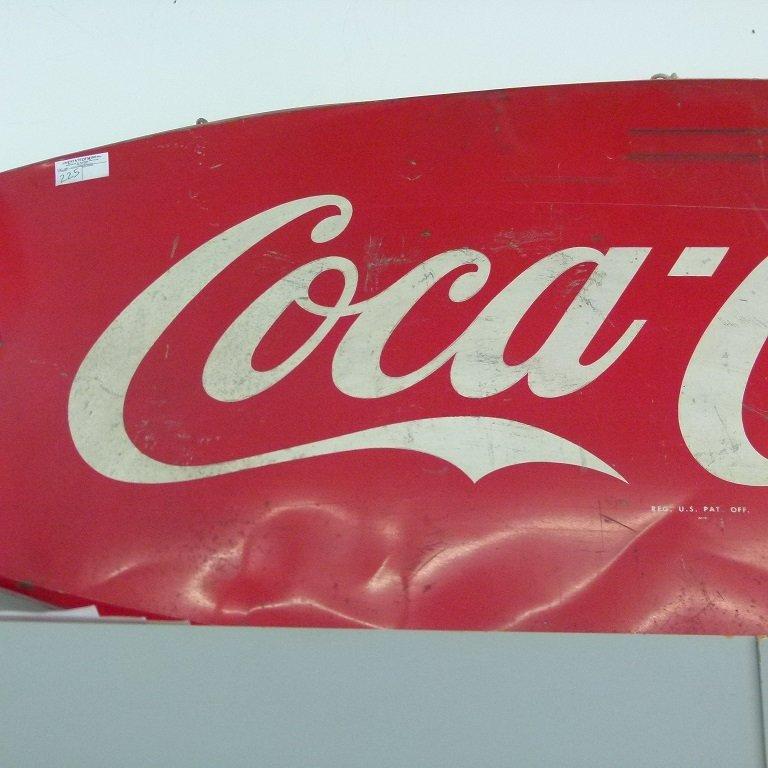 "COCA-COLA TIN ""BOW TIE"" SIGN, C. 1950 - 3"