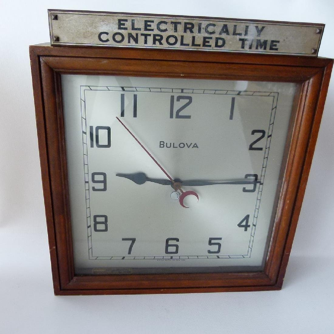 RARE BULOVA ELECTRONICAL CONTROLLED TIME CLOCK