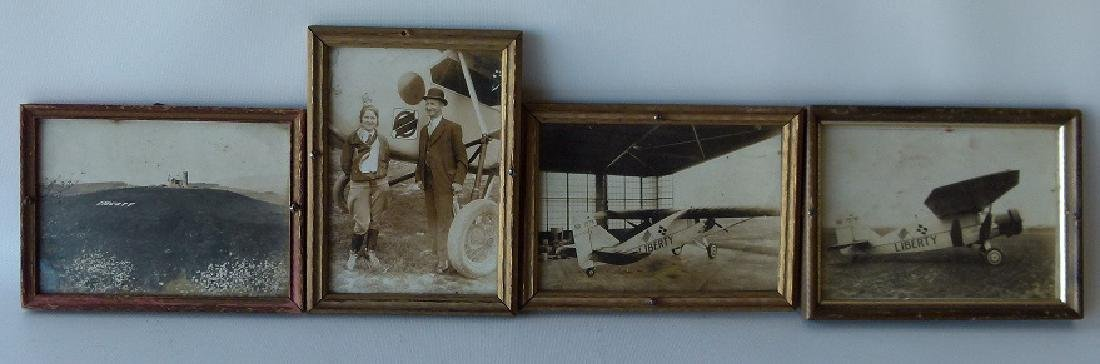 "LOT (4) VINTAGE PHOTOS AIRPLANE ""LIBERTY"" FIRST FLIGHT,"