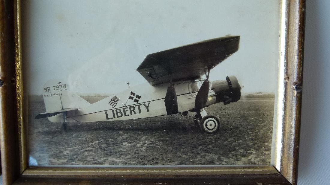 "LOT (4) VINTAGE PHOTOS AIRPLANE ""LIBERTY"" FIRST FLIGHT, - 5"