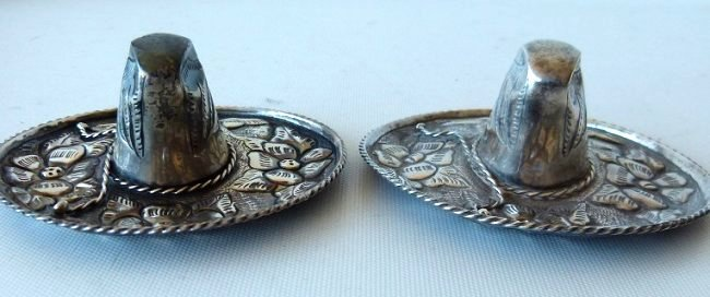 LOT ASSORTED MEXICAN STERLING SILVER TRINKETS - 5