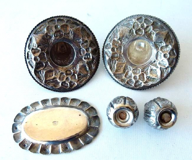 LOT ASSORTED MEXICAN STERLING SILVER TRINKETS - 7