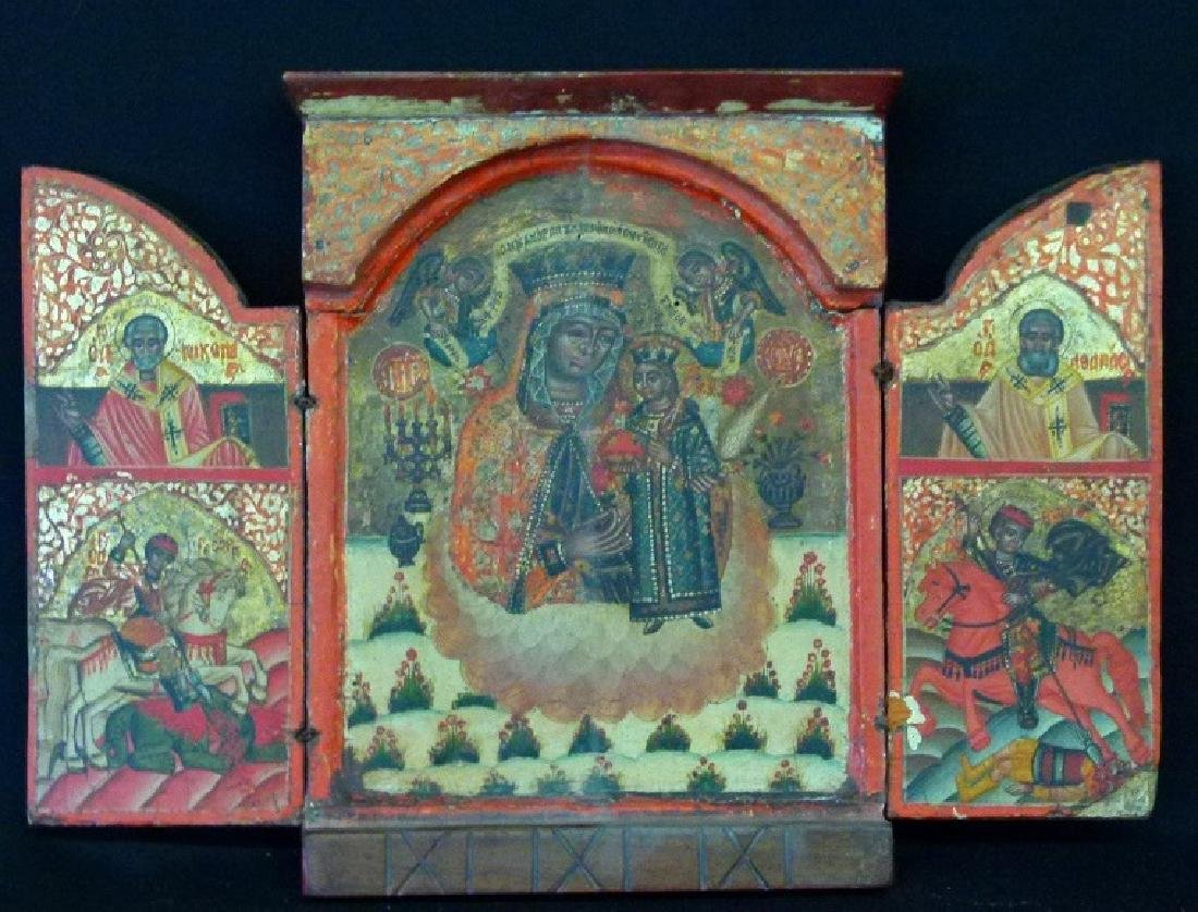 FINE RUSSIAN ORTHODOX TABERNACLE ICON, 17/18TH C.