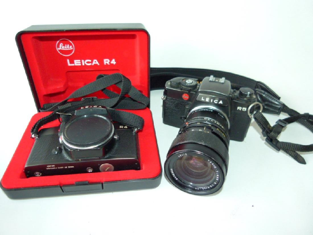LOT (2) LEICA CAMERAS INCL. R-4/R-5 W/ BOX