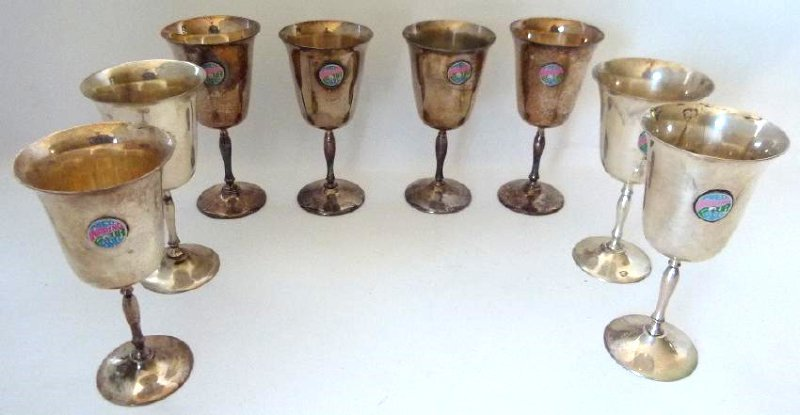 SET (8) FRED WARING GOLF TOURNAMENT ENAMELED GOBLETS