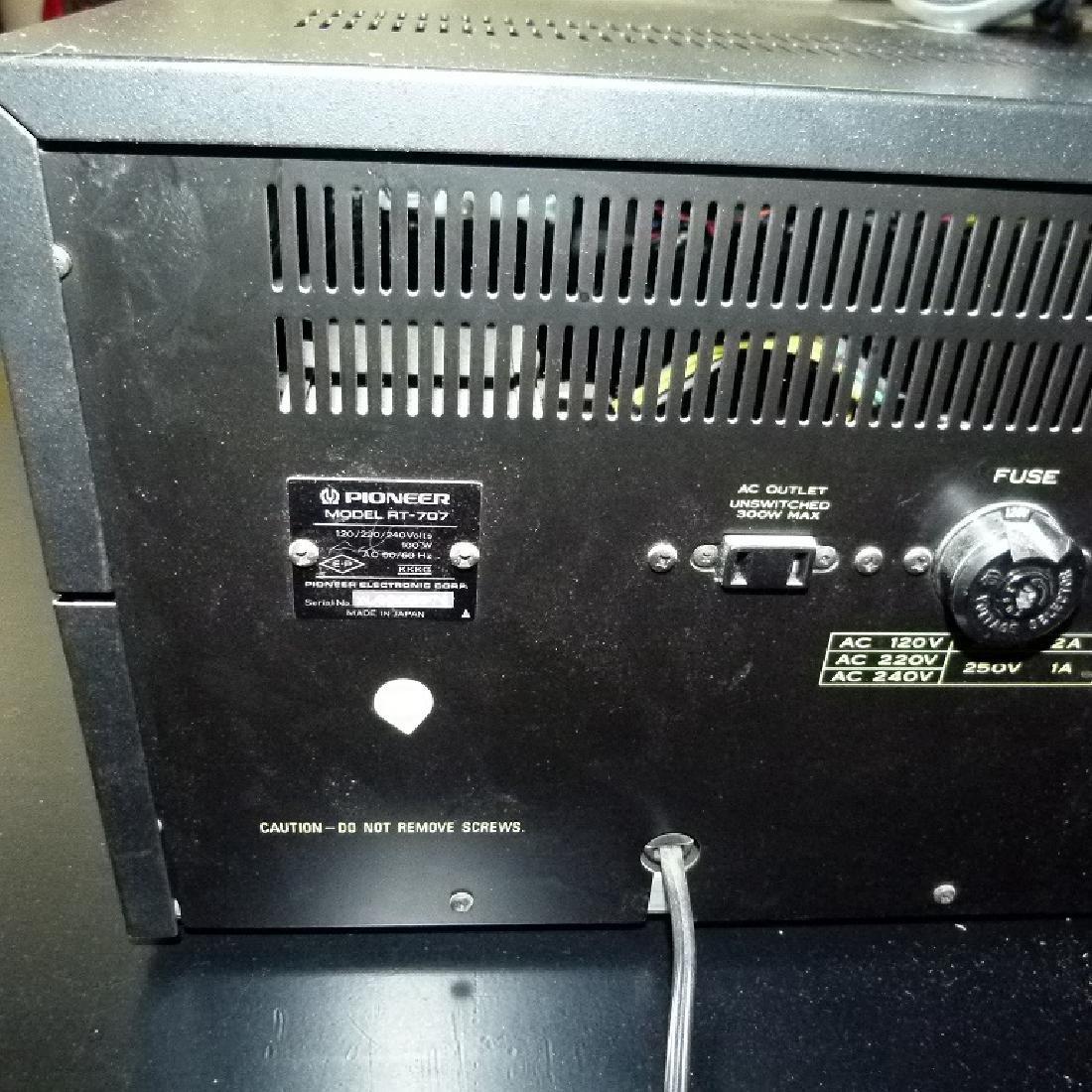 LOT (2) PIONEER MODEL R.T.707 REEL TO REEL C. 1970 - 9