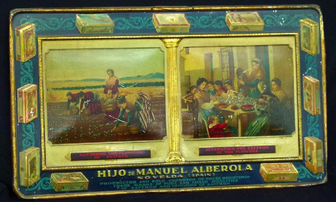 SPANISH LITHO TIN ADVERTISING SIGN, 19TH C.