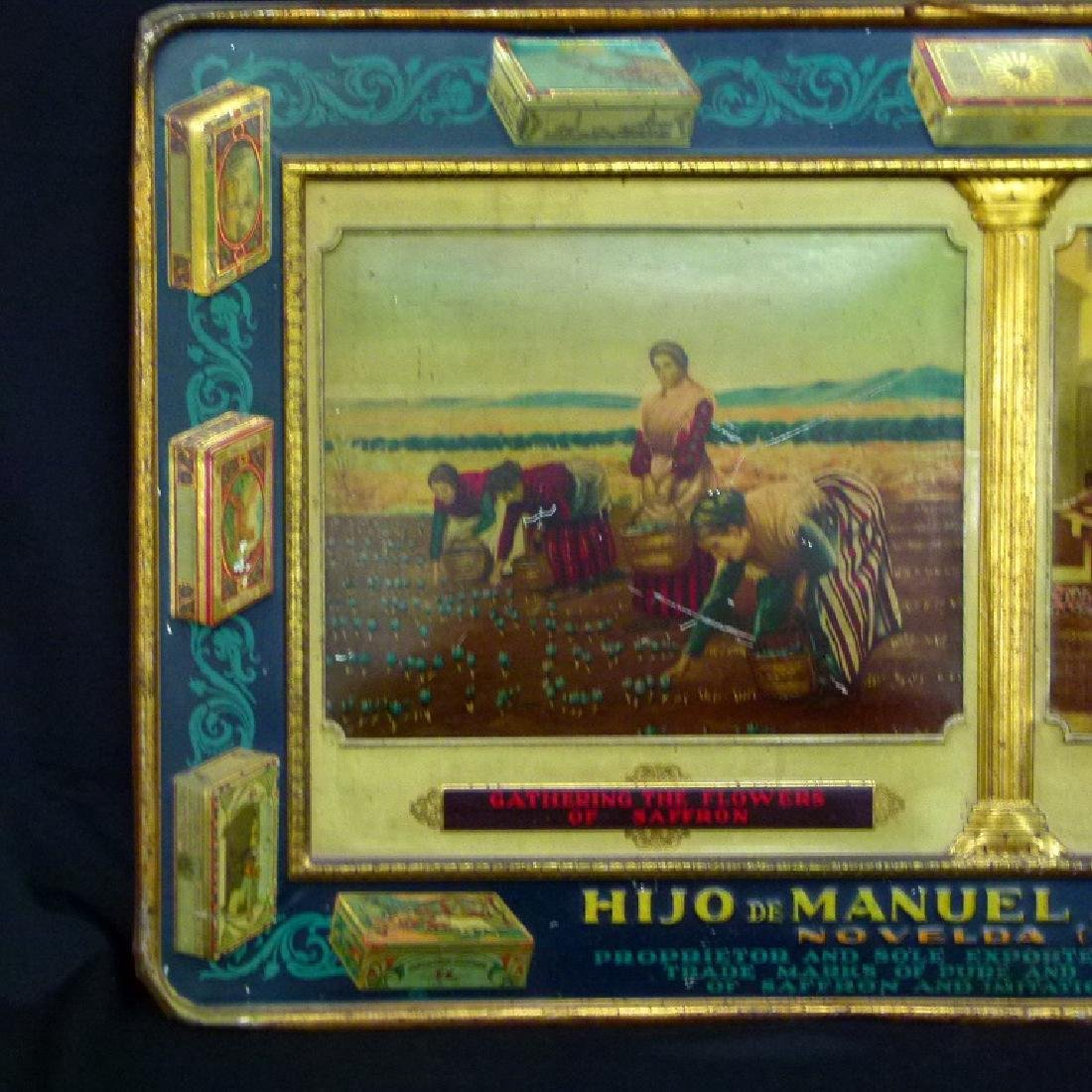 SPANISH LITHO TIN ADVERTISING SIGN, 19TH C. - 2