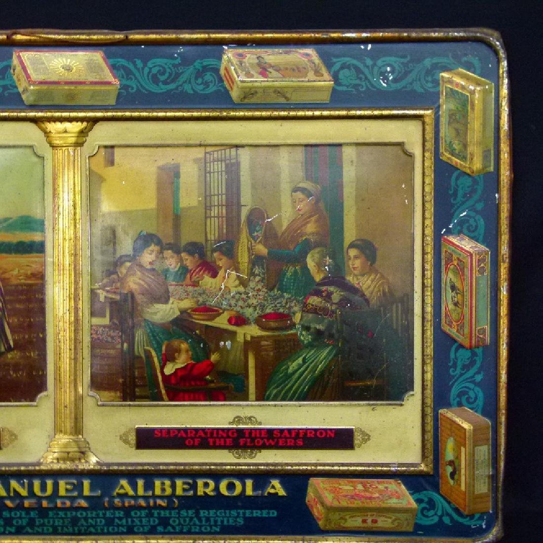 SPANISH LITHO TIN ADVERTISING SIGN, 19TH C. - 3