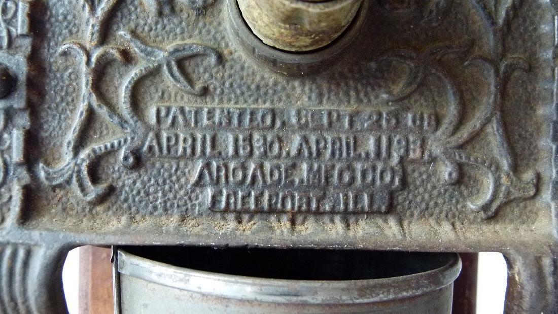 TELEPHONE MILL CAST IRON COFFEE MILL (ARCADE) 1888 - 3
