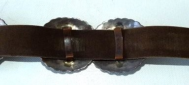SOUTHWEST AMERICAN INDIAN CONCHO BELT, HALLMARKED - 13