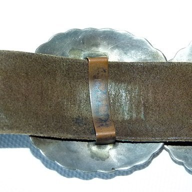 SOUTHWEST AMERICAN INDIAN CONCHO BELT, HALLMARKED - 15