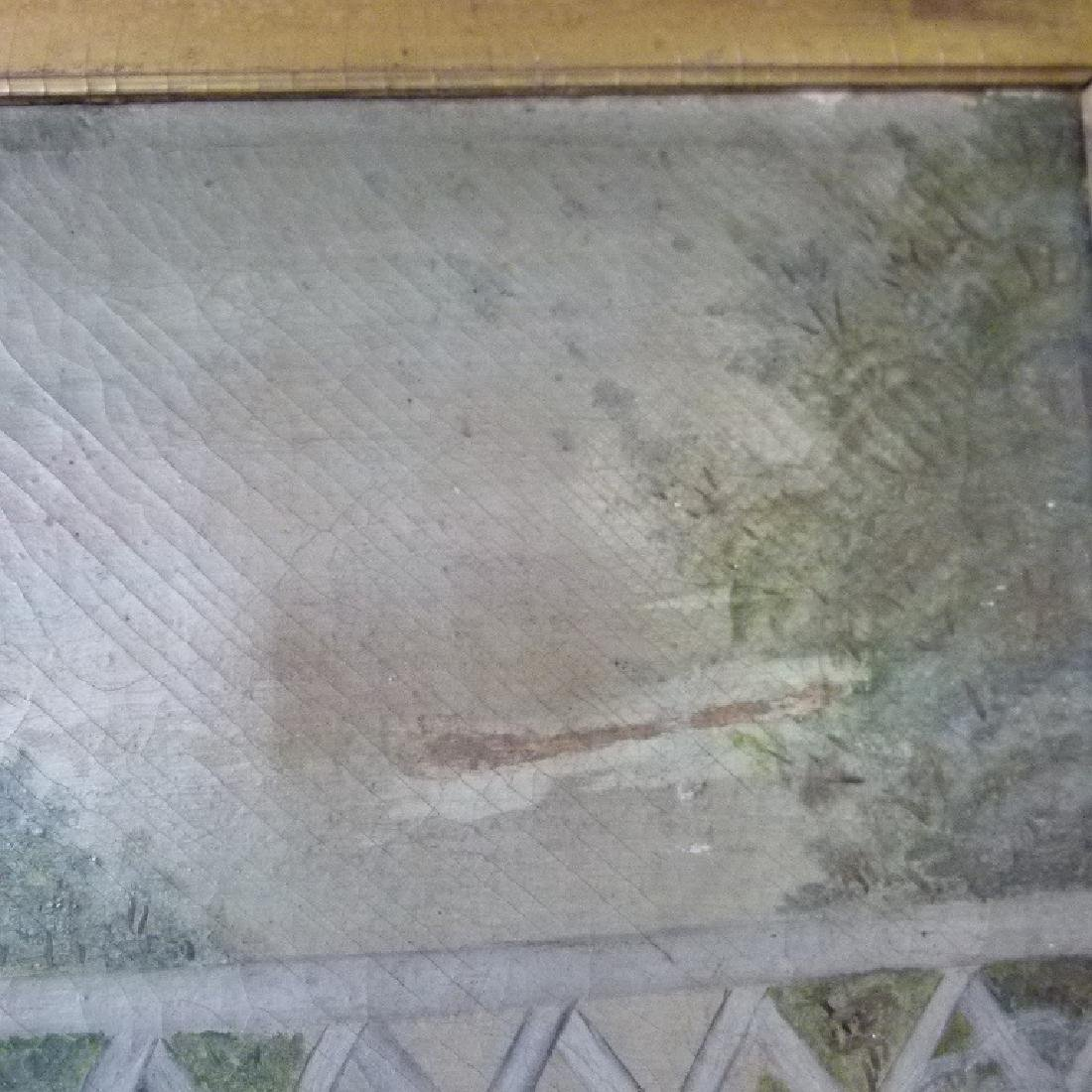 O/C FOLK ART EQUESTRIAN RIDERS UNSIGNED, C. 1850/60 - 5