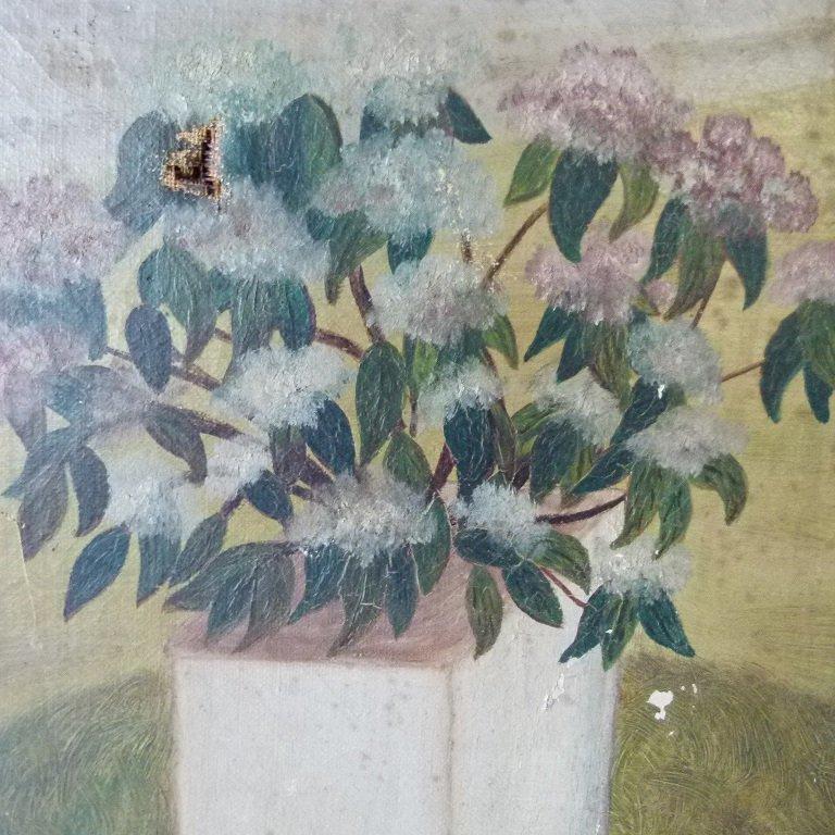 O/C FOLK ART EQUESTRIAN RIDERS UNSIGNED, C. 1850/60 - 7