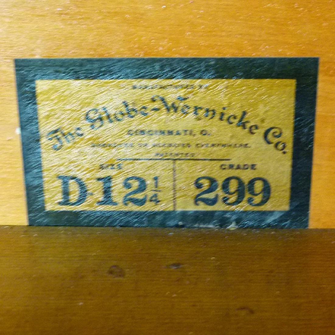 GLOBE-WERNIEKE OAK 3 STACK LAWYERS BOOKCASE, C. 1920 - 4