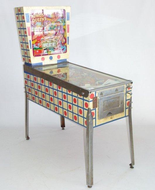 "GOTTLIEB PINBALL MACHINE ""KINGS AND QUEENS"", C. 1965"