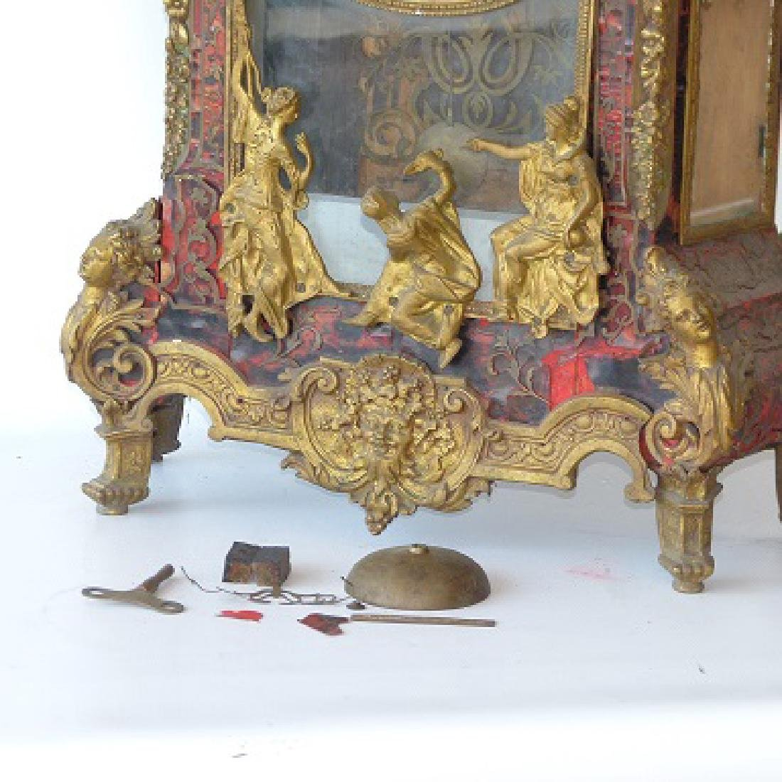 HUGE FRENCH BOULLE MANTLE/SHELF CLOCK 19TH C. - 10