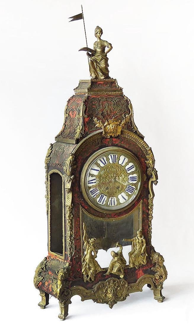 HUGE FRENCH BOULLE MANTLE/SHELF CLOCK 19TH C.