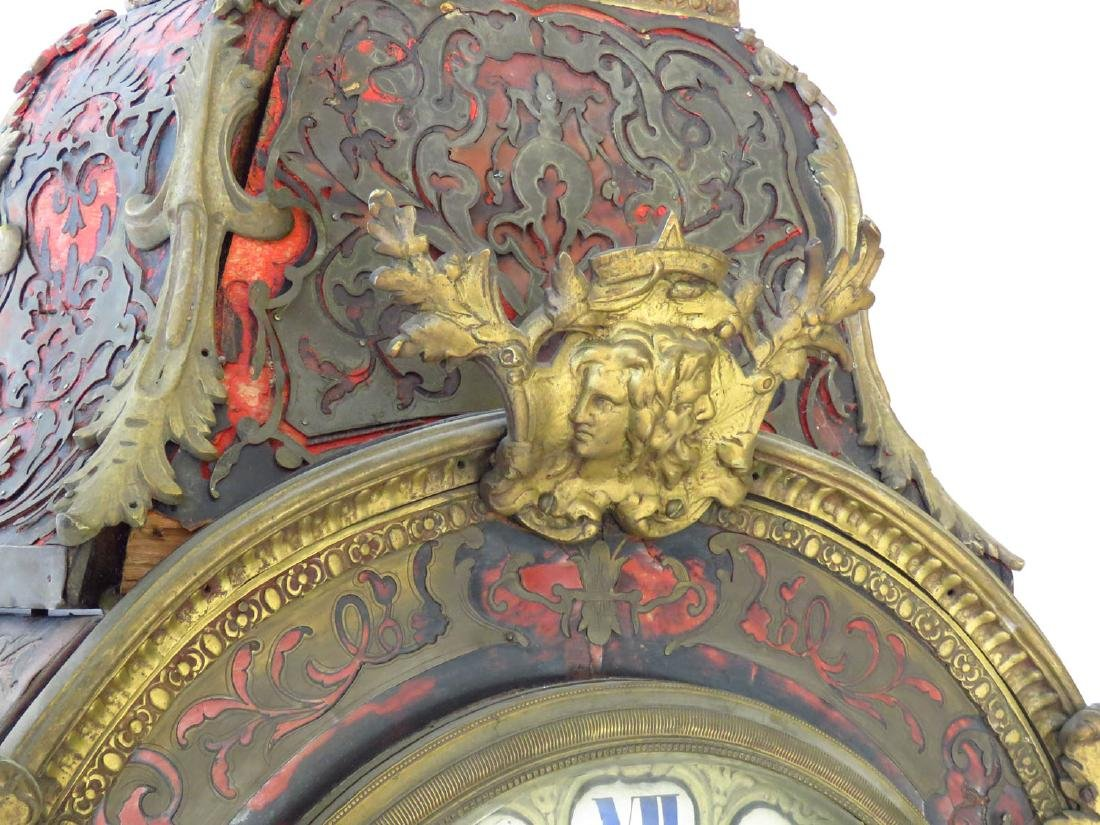 HUGE FRENCH BOULLE MANTLE/SHELF CLOCK 19TH C. - 4