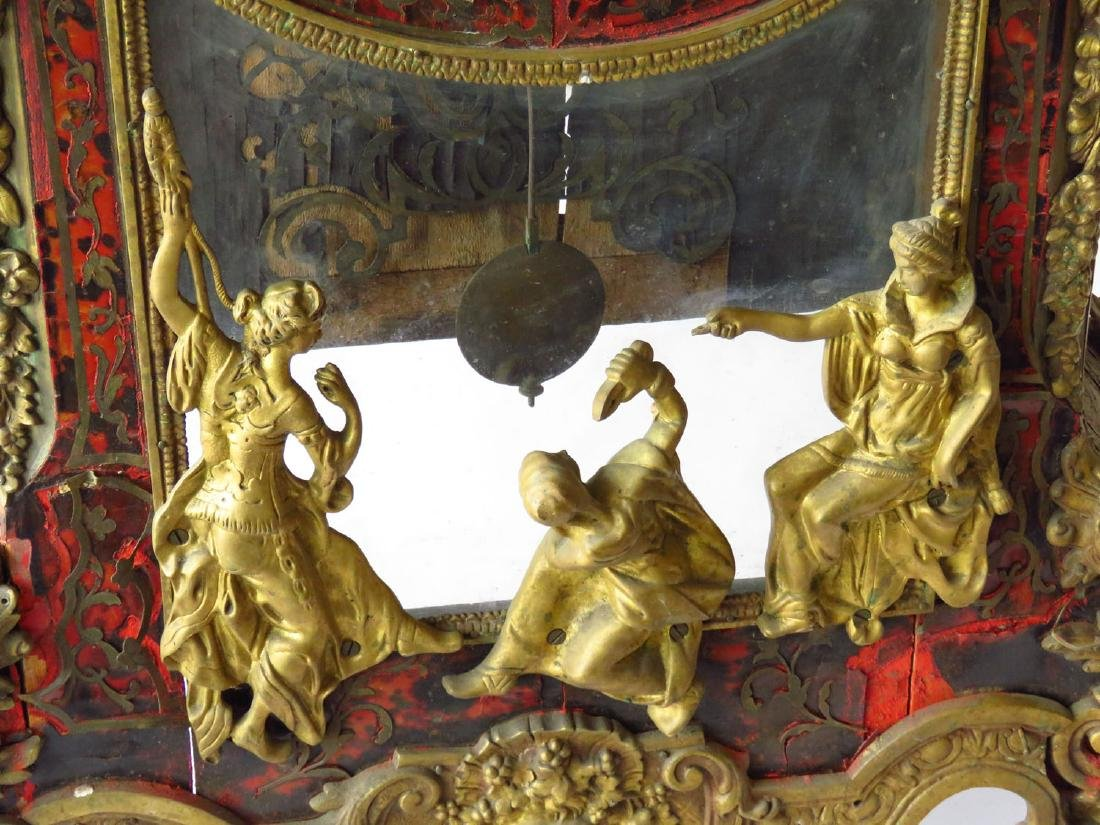 HUGE FRENCH BOULLE MANTLE/SHELF CLOCK 19TH C. - 5