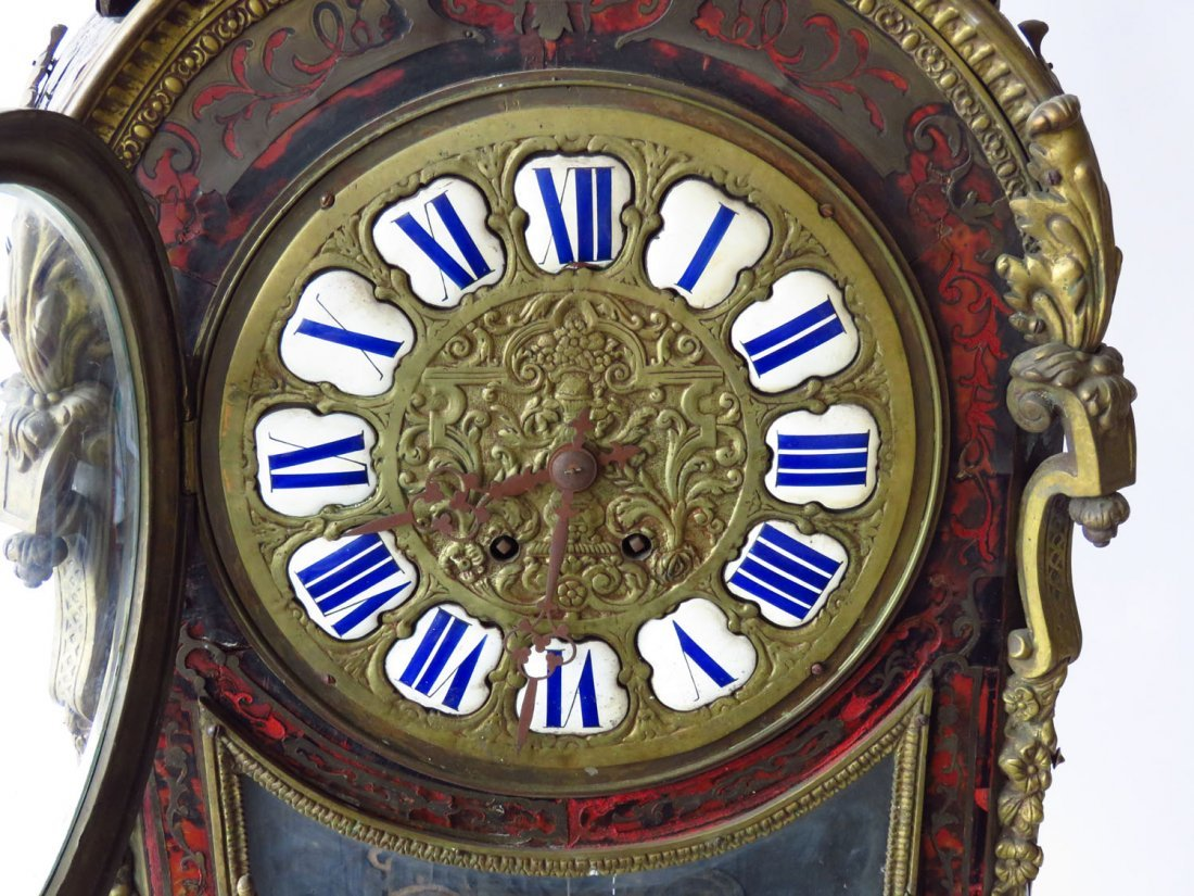 HUGE FRENCH BOULLE MANTLE/SHELF CLOCK 19TH C. - 6