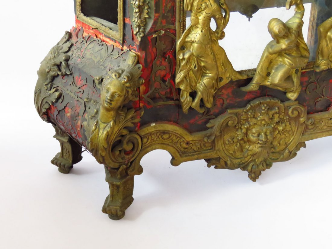 HUGE FRENCH BOULLE MANTLE/SHELF CLOCK 19TH C. - 7