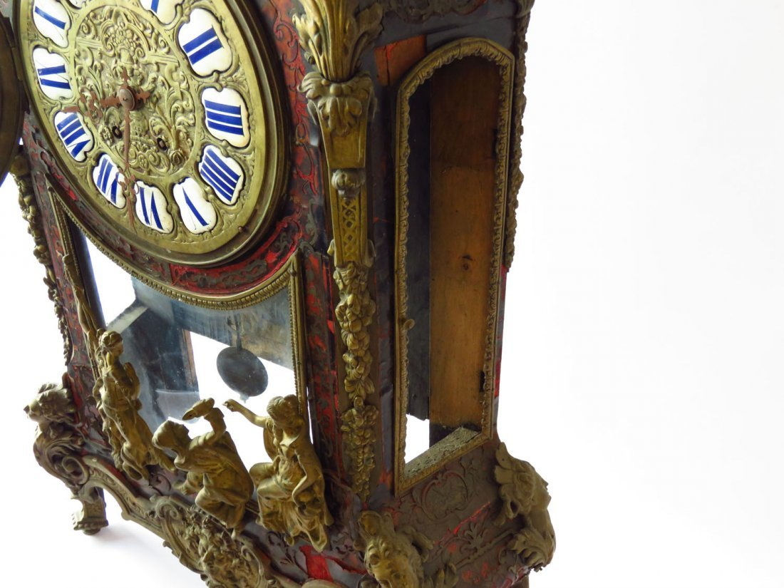 HUGE FRENCH BOULLE MANTLE/SHELF CLOCK 19TH C. - 8