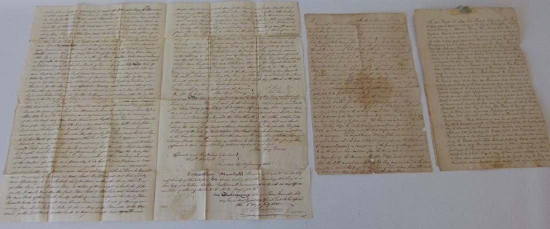 LOT (4) DOCUMENTS-JOHN & WILLIAM PENN LAND